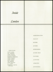 Page 11, 1958 Edition, Landon High School - Landonian Yearbook (Jacksonville, FL) online yearbook collection