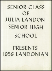 Page 7, 1958 Edition, Landon High School - Landonian Yearbook (Jacksonville, FL) online yearbook collection
