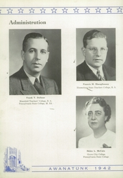 Page 10, 1942 Edition, Tunkhannock High School - Awanatunk Yearbook (Tunkhannock, PA) online yearbook collection