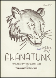 Page 5, 1947 Edition, Tunkhannock High School - Awanatunk Yearbook (Tunkhannock, PA) online yearbook collection
