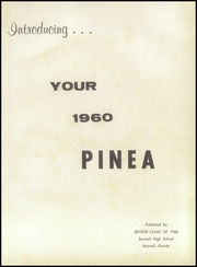 Page 5, 1960 Edition, Bunnell High School - Pinea Yearbook (Bunnell, FL) online yearbook collection