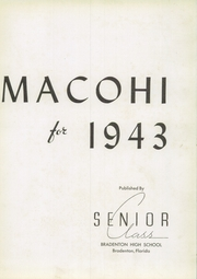 Page 9, 1943 Edition, Bradenton High School - Macohi Yearbook (Bradenton, FL) online yearbook collection