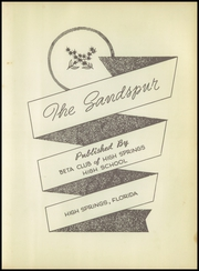Page 7, 1951 Edition, High Springs High School - Sandspur Yearbook (High Springs, FL) online yearbook collection