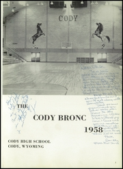 Page 5, 1958 Edition, Cody High School - Bronco Yearbook (Cody, WY) online yearbook collection