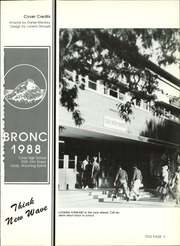 Page 5, 1988 Edition, Cody High School - Bronco Yearbook (Cody, WY) online yearbook collection