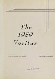 Page 5, 1959 Edition, Central Catholic High School - Veritas Yearbook (Daytona Beach, FL) online yearbook collection