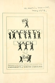 Page 5, 1904 Edition, University of North Carolina Chapel Hill - Yackety Yack Yearbook (Chapel Hill, NC) online yearbook collection