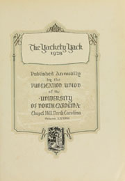 Page 7, 1928 Edition, University of North Carolina Chapel Hill - Yackety Yack Yearbook (Chapel Hill, NC) online yearbook collection