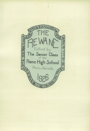 Page 7, 1926 Edition, Reno High School - Re Wa Ne Yearbook (Reno, NV) online yearbook collection