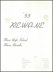 Page 7, 1953 Edition, Reno High School - Re Wa Ne Yearbook (Reno, NV) online yearbook collection