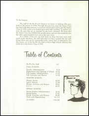 Page 7, 1958 Edition, Reno High School - Re Wa Ne Yearbook (Reno, NV) online yearbook collection