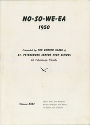 Page 7, 1950 Edition, St Petersburg High School - No So We Ea Yearbook (St Petersburg, FL) online yearbook collection