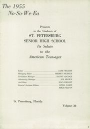 Page 7, 1955 Edition, St Petersburg High School - No So We Ea Yearbook (St Petersburg, FL) online yearbook collection
