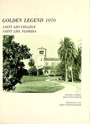 Page 5, 1970 Edition, St Leo University - Golden Legend Yearbook (St Leo, FL) online yearbook collection