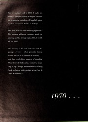 Page 6, 1970 Edition, St Leo University - Golden Legend Yearbook (St Leo, FL) online yearbook collection