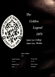 Page 5, 1975 Edition, St Leo University - Golden Legend Yearbook (St Leo, FL) online yearbook collection