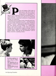Page 10, 1986 Edition, St Leo University - Golden Legend Yearbook (St Leo, FL) online yearbook collection