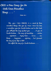 Page 7, 1965 Edition, Southeastern University - Torch Yearbook (Lakeland, FL) online yearbook collection
