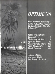 Page 5, 1978 Edition, Westminster Academy - Optime Yearbook (Fort Lauderdale, FL) online yearbook collection
