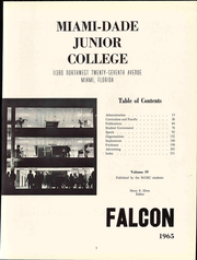 Page 9, 1965 Edition, Miami Dade College North Campus - Falcon Yearbook (Miami, FL) online yearbook collection