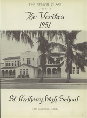 Page 7, 1951 Edition, St Anthony High School - Veritas Yearbook (Fort Lauderdale, FL) online yearbook collection