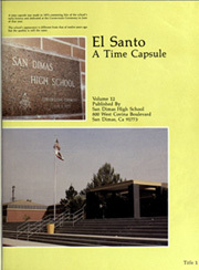 Page 5, 1982 Edition, San Dimas High School - El Santo Yearbook (San Dimas, CA) online yearbook collection