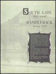 Page 7, 1956 Edition, South Gate High School - Rams Yearbook (South Gate, CA) online yearbook collection
