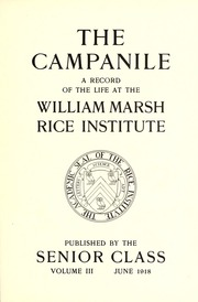 Page 9, 1918 Edition, Rice University - Campanile Yearbook (Houston, TX) online yearbook collection