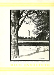 Page 6, 1930 Edition, Rice University - Campanile Yearbook (Houston, TX) online yearbook collection