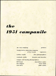 Page 5, 1951 Edition, Rice University - Campanile Yearbook (Houston, TX) online yearbook collection