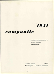 Page 7, 1951 Edition, Rice University - Campanile Yearbook (Houston, TX) online yearbook collection
