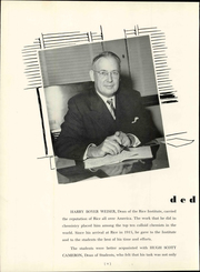 Page 8, 1951 Edition, Rice University - Campanile Yearbook (Houston, TX) online yearbook collection
