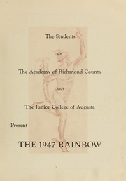 Page 9, 1947 Edition, Academy of Richmond County High School - Arc Yearbook (Augusta, GA) online yearbook collection
