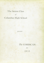 Page 7, 1935 Edition, Columbus High School - Cohiscan Yearbook (Columbus, GA) online yearbook collection