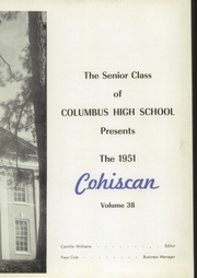 Page 5, 1951 Edition, Columbus High School - Cohiscan Yearbook (Columbus, GA) online yearbook collection
