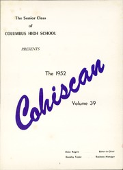Page 7, 1952 Edition, Columbus High School - Cohiscan Yearbook (Columbus, GA) online yearbook collection