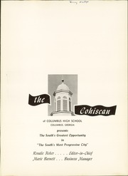 Page 5, 1956 Edition, Columbus High School - Cohiscan Yearbook (Columbus, GA) online yearbook collection