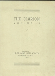 Page 3, 1934 Edition, LaGrange High School - Granger Yearbook (Lagrange, GA) online yearbook collection