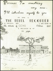 Page 7, 1958 Edition, Crisp County High School - Rebel Recorder Yearbook (Cordele, GA) online yearbook collection