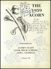 Page 5, 1959 Edition, Cook High School - Acorn Yearbook (Adel, GA) online yearbook collection