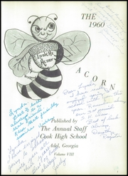 Page 5, 1960 Edition, Cook High School - Acorn Yearbook (Adel, GA) online yearbook collection