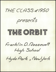 Page 5, 1950 Edition, Franklin Roosevelt High School - Orbit Yearbook (Hyde Park, NY) online yearbook collection