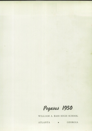 Page 5, 1950 Edition, Bass High School - Pegasus Yearbook (Atlanta, GA) online yearbook collection