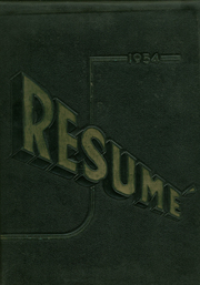 1954 Edition, Southwest High School - Resume Yearbook (Atlanta, GA)