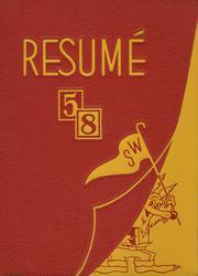 1958 Edition, Southwest High School - Resume Yearbook (Atlanta, GA)
