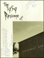 Page 6, 1959 Edition, Southwest High School - Resume Yearbook (Atlanta, GA) online yearbook collection