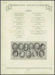 Page 12, 1934 Edition, Rome High School - Roman Yearbook (Rome, GA) online yearbook collection