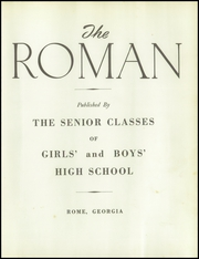 Page 7, 1950 Edition, Rome High School - Roman Yearbook (Rome, GA) online yearbook collection