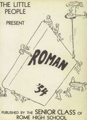 Page 5, 1954 Edition, Rome High School - Roman Yearbook (Rome, GA) online yearbook collection