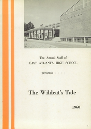 Page 5, 1960 Edition, East Atlanta High School - Wildcats Tale Yearbook (Atlanta, GA) online yearbook collection